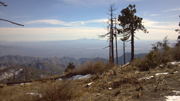 Mount Lemon Looking at Tucson.
