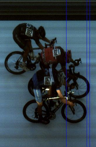 A true photo finish I am on the top of the picture coming in 3rd